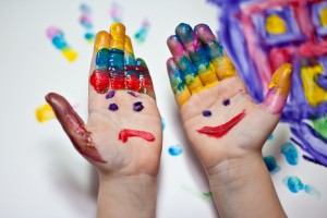 colorful creative hands