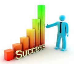 success chart and man
