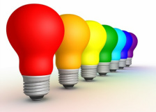 colored lightbulbs