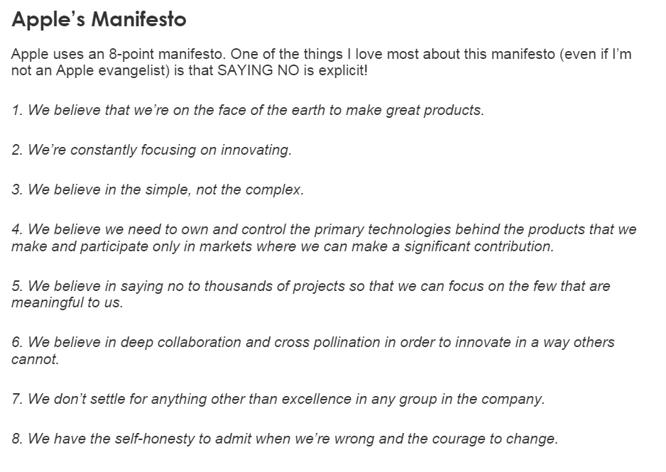 How to write an architectural manifesto