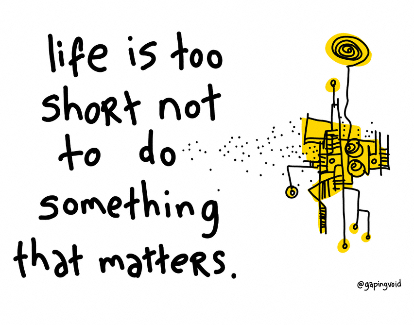 do something that matters